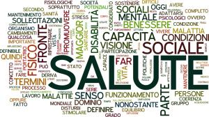 """Word cloud generata con le parole dell'articolo """"Come possiamo definire la salute?"""""""